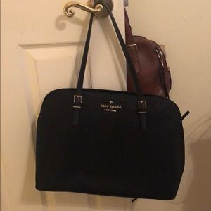 Black Kate Spade purse with laptop case